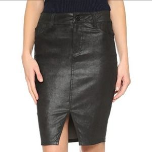 NWT Joe's jeans leather pencil skirt with slit